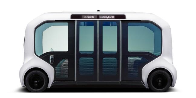 Toyota E-palette autonomous vehicle
