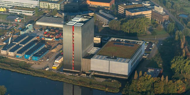 Aerial view of Equinix's data centre in Amsterdam, the Netherlands