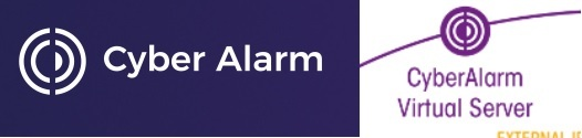 Left: The Cyber Alarm Ltd logo. Right: the NPCC CyberAlarm logo at its launch in mid-2020