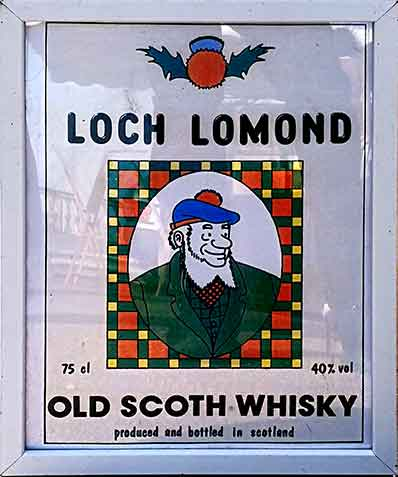 Loch Lomond Whisky poster with spelling mistake