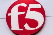 The F5 red button logo