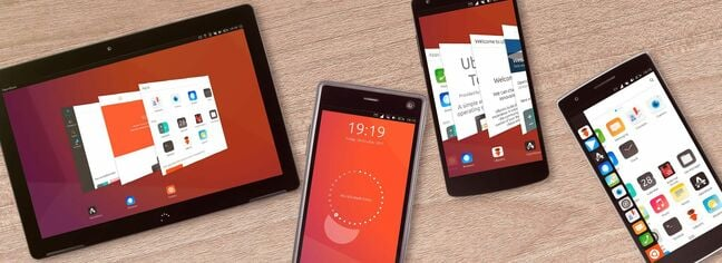 Ubuntu Touch running on a range of devices