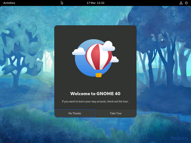 The new GNOME 40 desktop arrives in Fedora 34