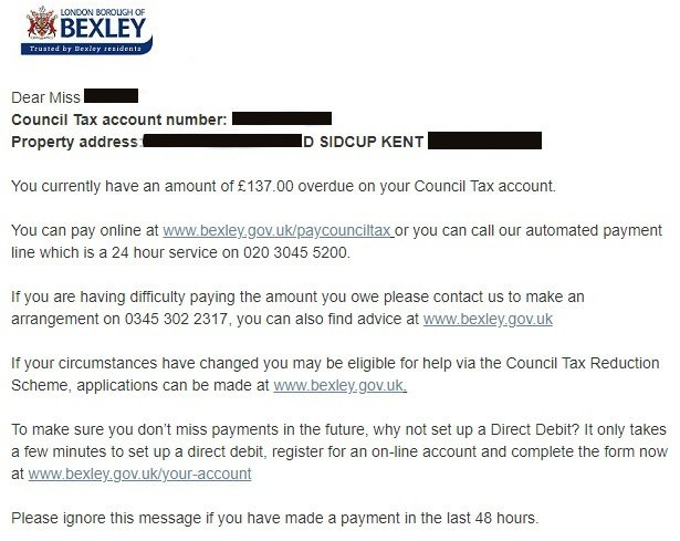 Bexley Council exposed all of its council taxpayers' details via an SMS service with no authentication at all
