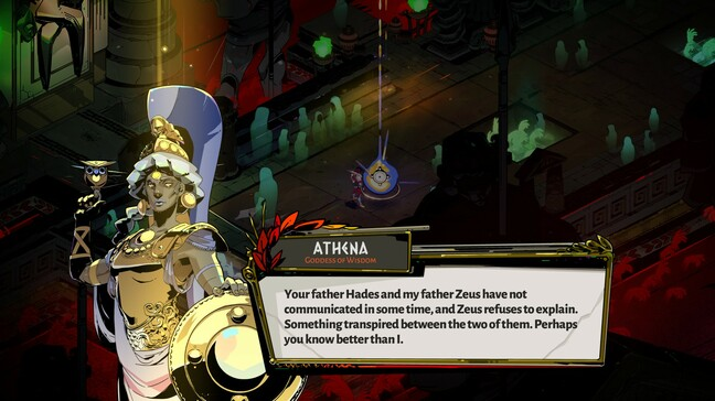 Athena is one of the first gods to offer Zagreus help