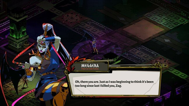 Megaera, one of the Furies, guards the exit from Tartarus
