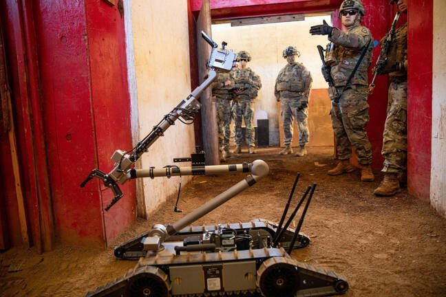 US Army handout pic of its JUDI conversational robot