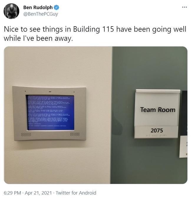 Bork in Team room 2075