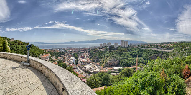 view from hilltop in croatia
