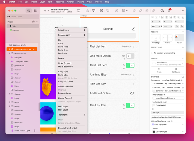 Sketch is a Mac design application mainly used for prototyping web and Mac applications