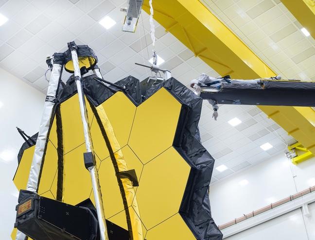 Final checks on Webb's 18 hexagonal mirrors