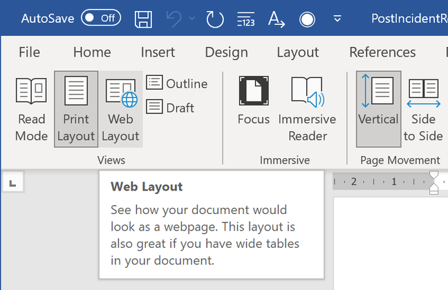 Word Web Layout, using for viewing or authoring HTML content, is a critical component in Outlook