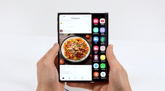 Samsung slideable display