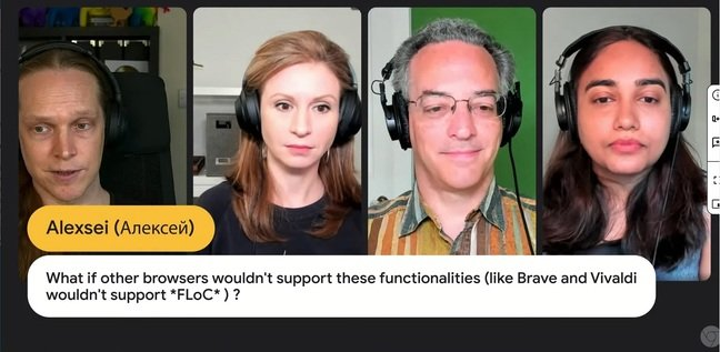 Google's Rowan Merewood, Barb Smith, Michael Kleber and Kaustbha Govind field an awkward question about web standards