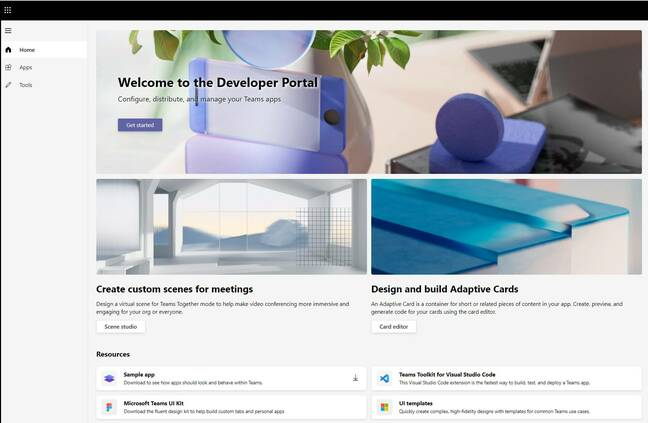The new (or revamped) Developer Portal for Teams applications