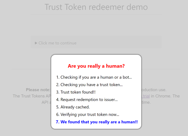 Trust Tokens are a new way to tell web sites you are human, but will not replace CAPTCHA