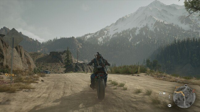 Motorbike is your route through the madness – and it handles like a dream