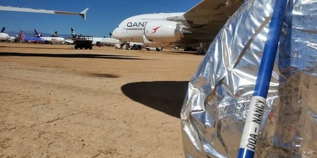 Qantas A380 wheel whacker