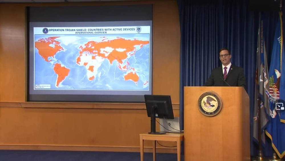 Global crackdown on organised crime after high-tech sting