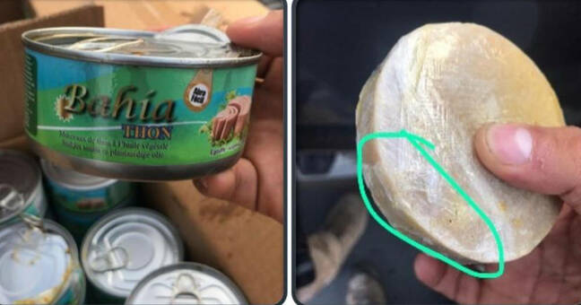A can of tuna containing cocaine