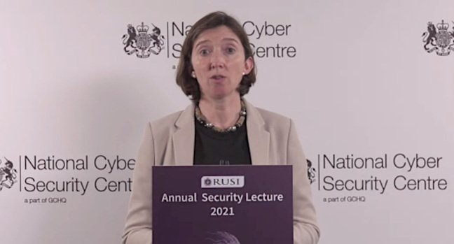 Lindy Cameron, NCSC chief exec, speaking at the 2021 RUSI Annual Security Lecture