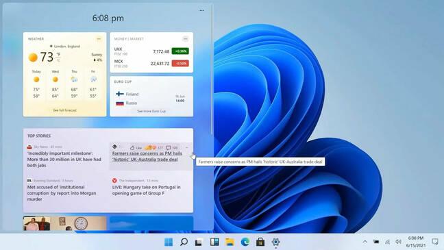 Screenshot of the Windows 11 desktop showing the start menu