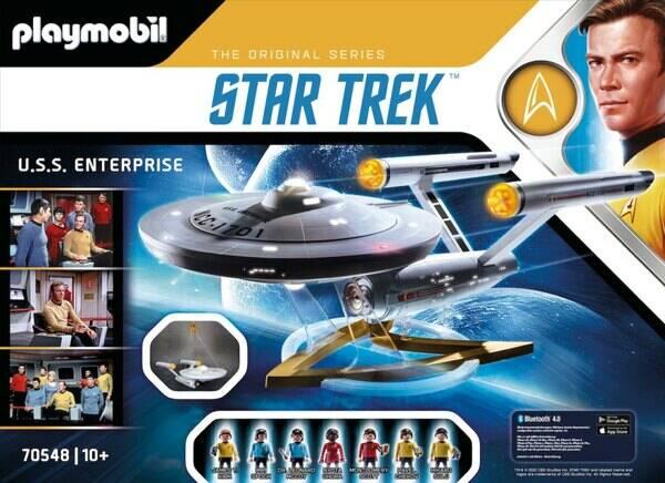 Box art for Playmobil's NCC-1701 USS Enterprise playset