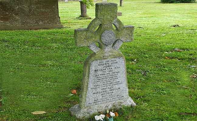 Spike Milligan's tombstone in Winchelsea, Kent