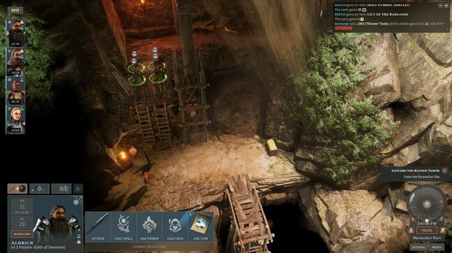 Exploration and combat take place from an isometric view, with the ability to zoom and rotate the camera
