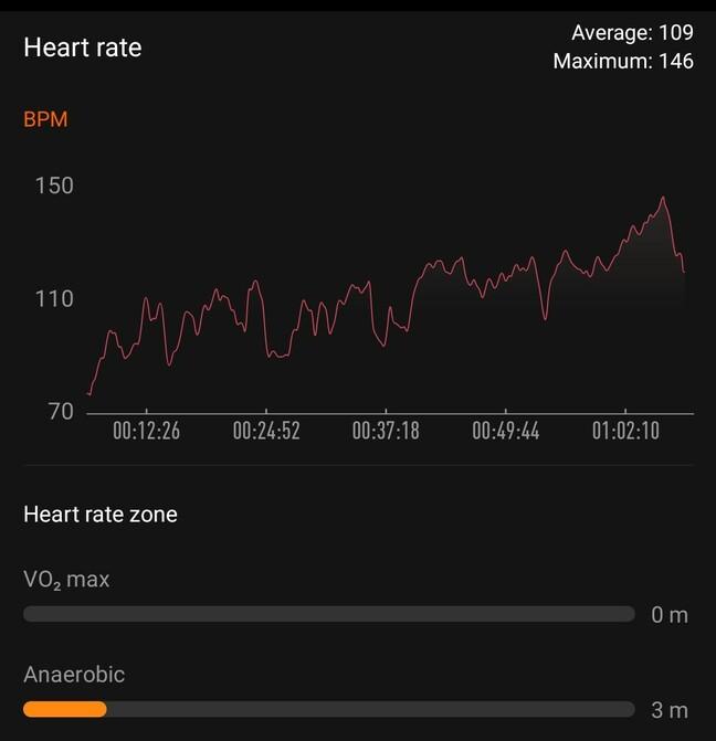 Mi Fit app workout screenshot