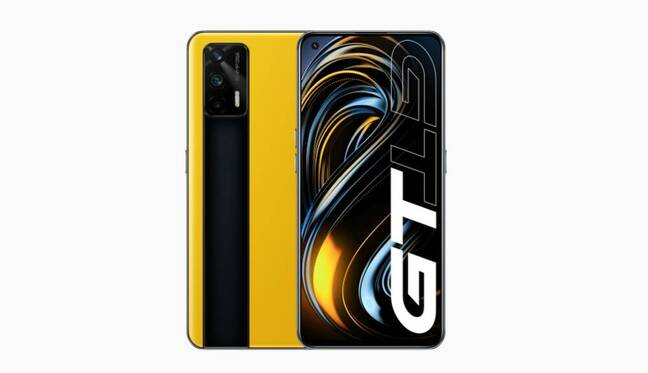 realme GT in racing yellow