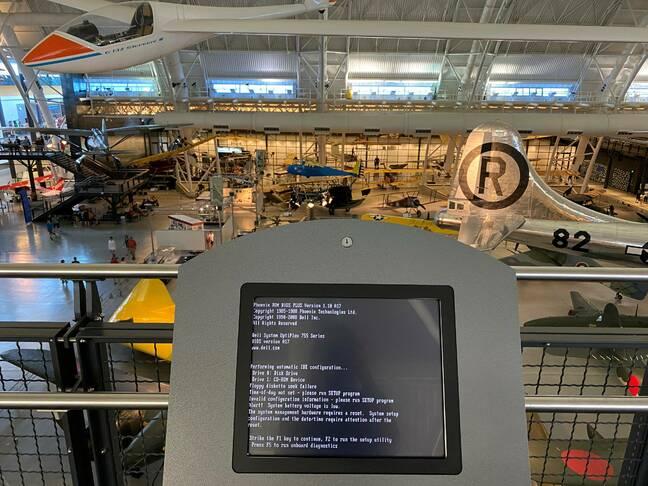 Dell error screen at Smithsonian