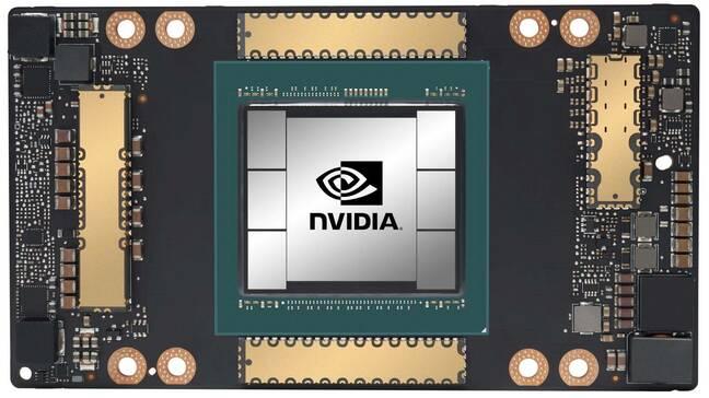 An Nvidia A100 GPU