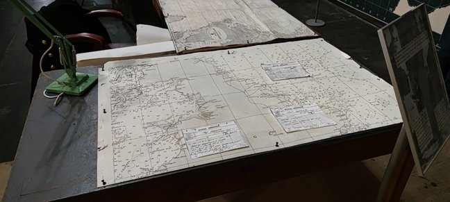 The Operations Room has been recreated as faithfully as possible to look as it did in the second half of World War 2