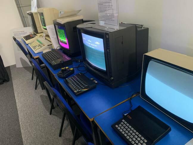 Row of retro computers