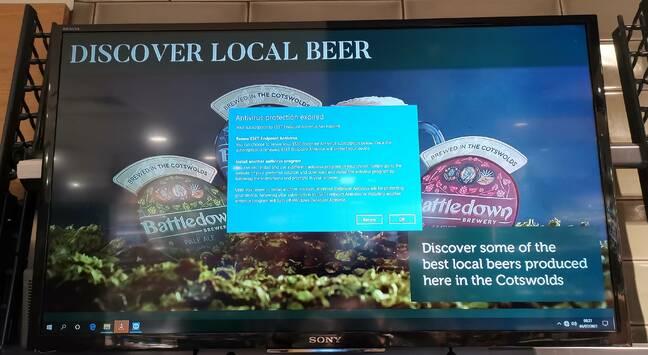 Borked beer signage