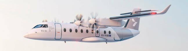 A Heart ES-19 electric plane