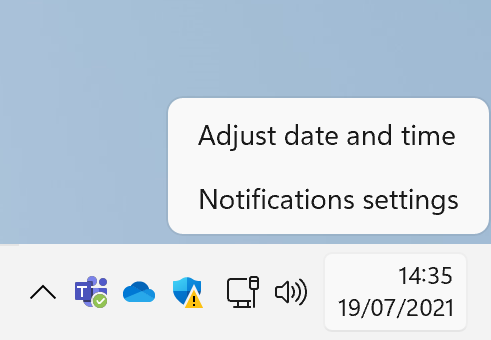 Right-click the taskbar and this puny menu is all you get