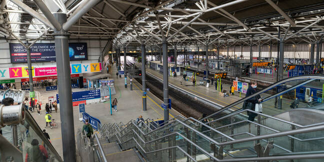 April 12th 2021: Leeds Railway Station on the day non essential shops reopened. Leeds, UK