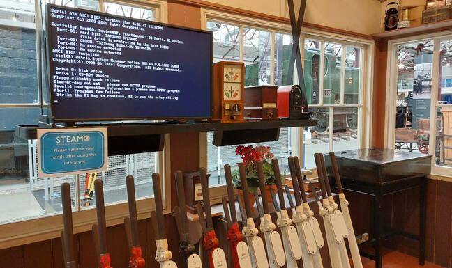 Computer error in a signal box