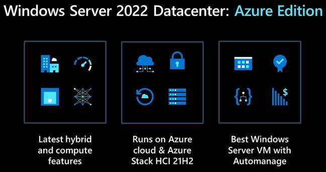 Differentiation between Windows Server and the special Azure Edition may not go down well with on-premises users or other clouds