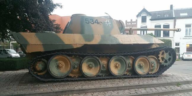 Restored German Panther tank
