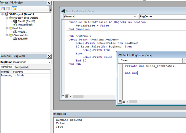 The bug is easy to demonstrate in 64-bit Excel