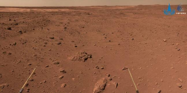 Mars as seen by China's Zhurong rover
