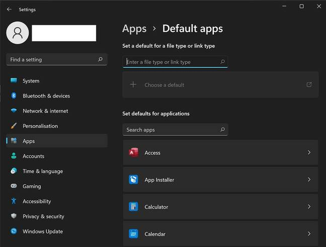 Just make Chrome my web browser: the Default apps settings are not user-friendly