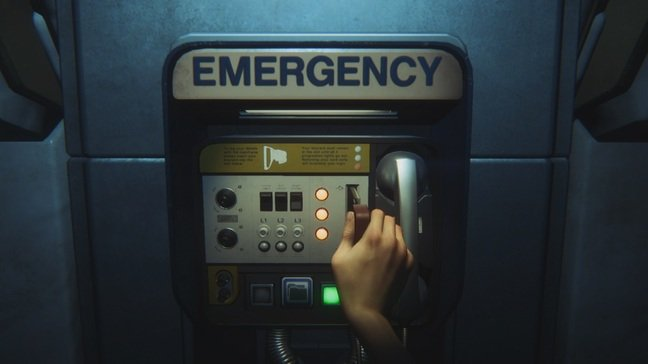 The game is saved by reaching these emergency contact points