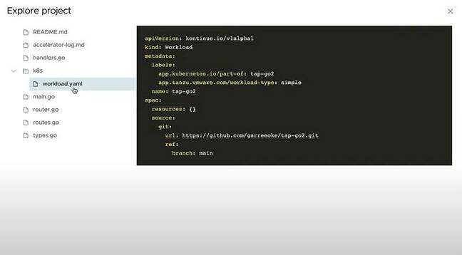 workload.yaml is key to how Tanzu Application Platform works