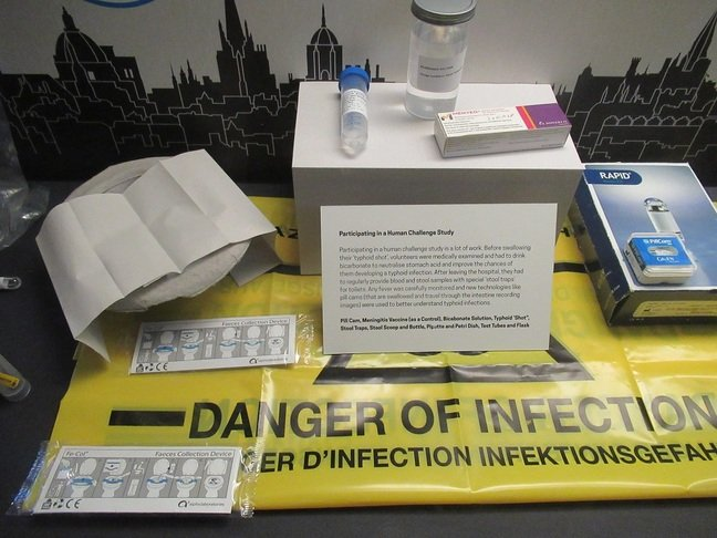 Crap collection for typhoid vaccine trial at History of Science Museum, Oxford Pic (c) SA Mathieson
