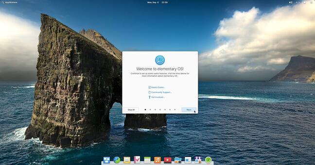 Elementary desktop
