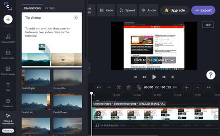 Clipchamp aims to make it easy to create and edit videos in the browsr